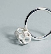 Dodecahedron Silver Ring
