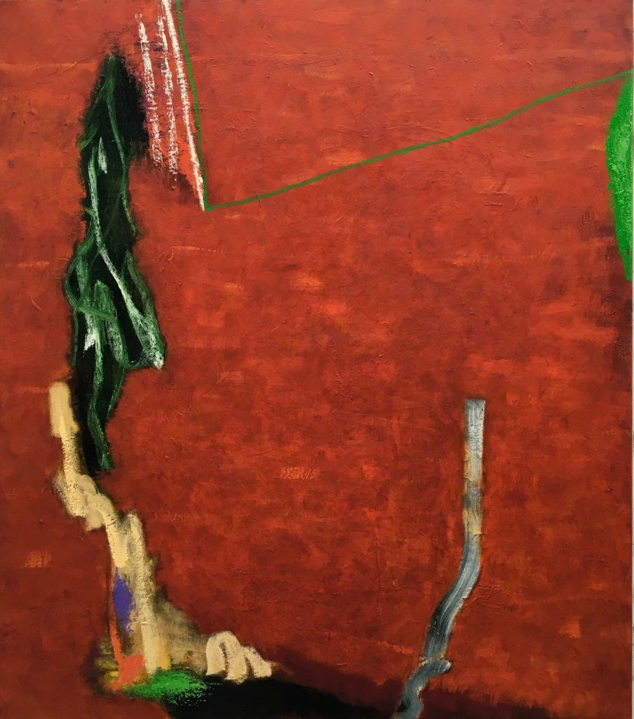 Cap de la Sortie, 2017, oil on linen, 122 x 107cm