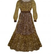 Image of a woman's dress made from seaweed pulp