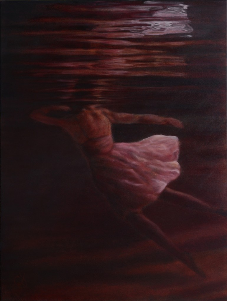 "Image of Catherine Stringer's painting ""Dormant Waters""."