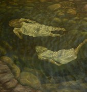"Image of Catherine Stringer's painting ""Leeaberra Swimming""."