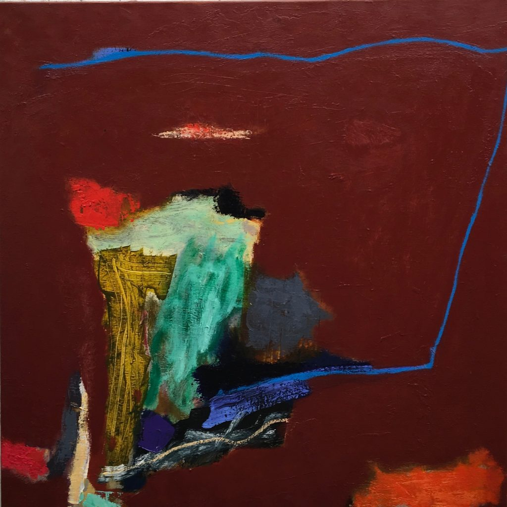 Limbotic Drift, 2017, oil on linen, 92 x 92cm