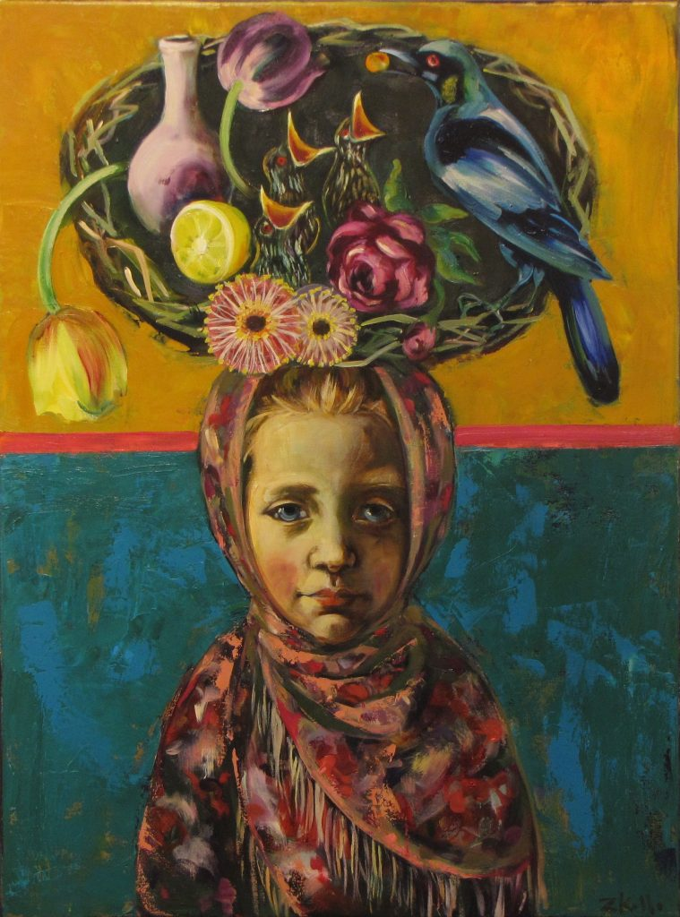 Russian Girl 2018, oil on linen, 60 x 50cm, $4,200