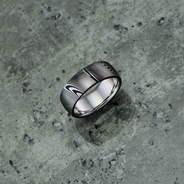 Image of Pure Damascus steel ring