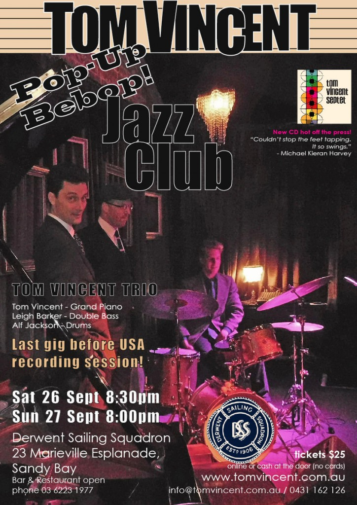 Image of Tom Vincent pop up jazz poster