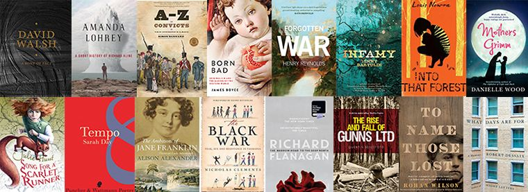 2015 Premier's Literary Prizes - longlisted book covers