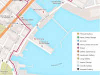 Map of Salamanca and Hobart waterfront art galleries