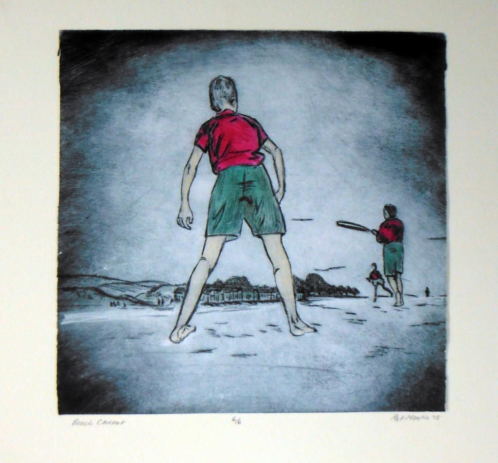 Etching, watercolour, cotton paper