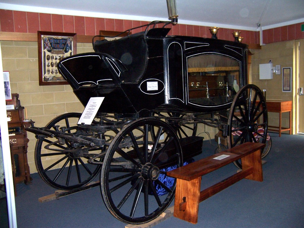 Image of a horse drawn hearse