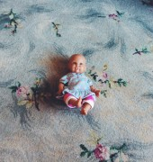 Audrey's baby on the floor of her bedroom, Gawler
