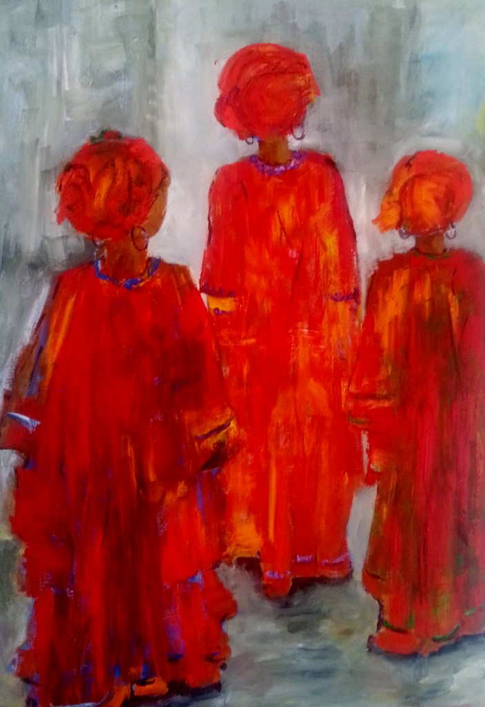 Three Ladies Walking