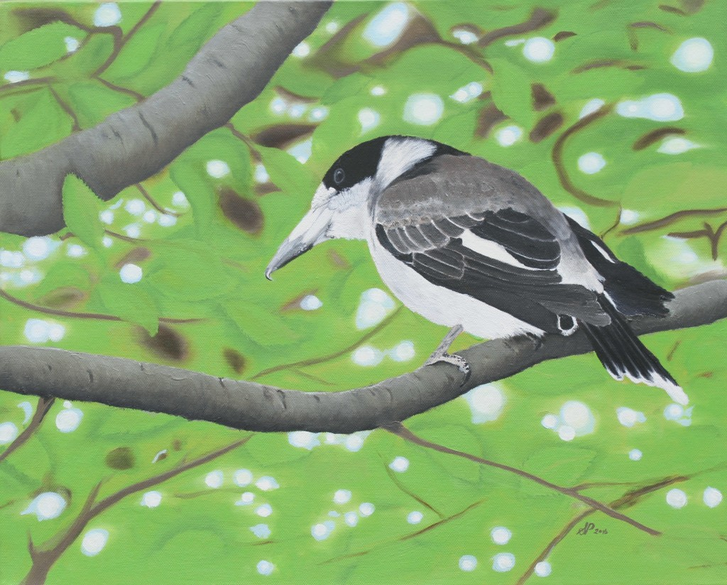 oil on canvas - Butcher Bird
