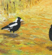 oil on canvas - Magpie Lane