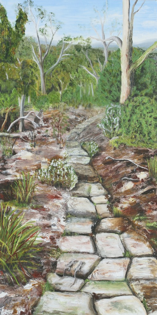 Woodland Path oil on canvas