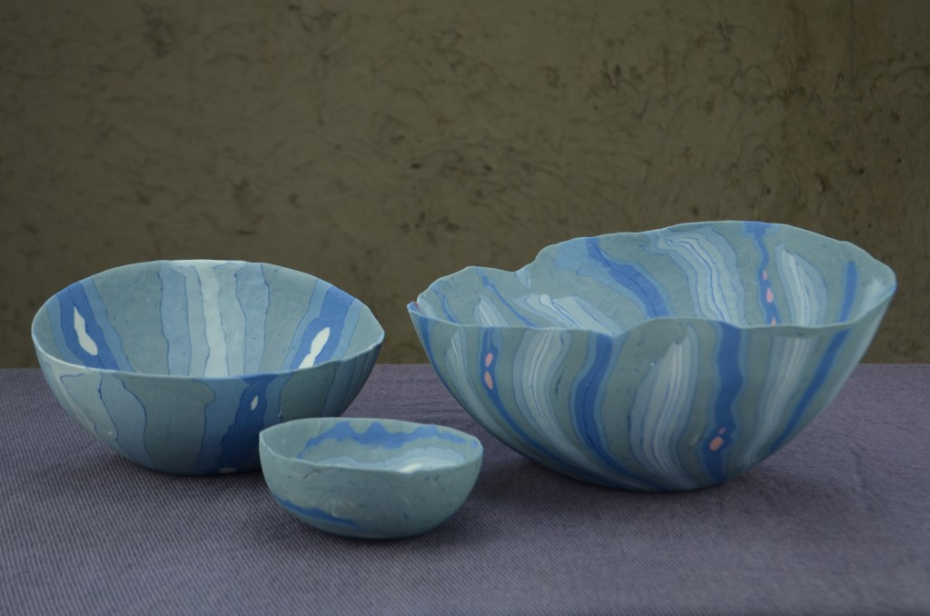 Pinched Bowls Blue