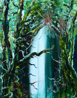 oil on canvas, Waterfalls #2