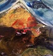 Dawn - encaustic and mixed media on board