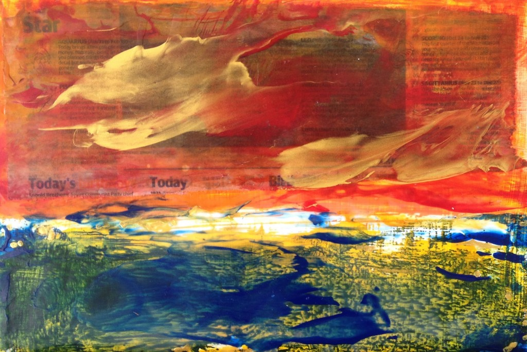 Forecast - encaustic on board