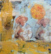 Mum - encaustic and mixed media