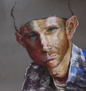 an exercise in shadow - pastel portrait
