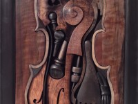 FOLDING CELLO. Myrtle, huon, walnut, banksia.