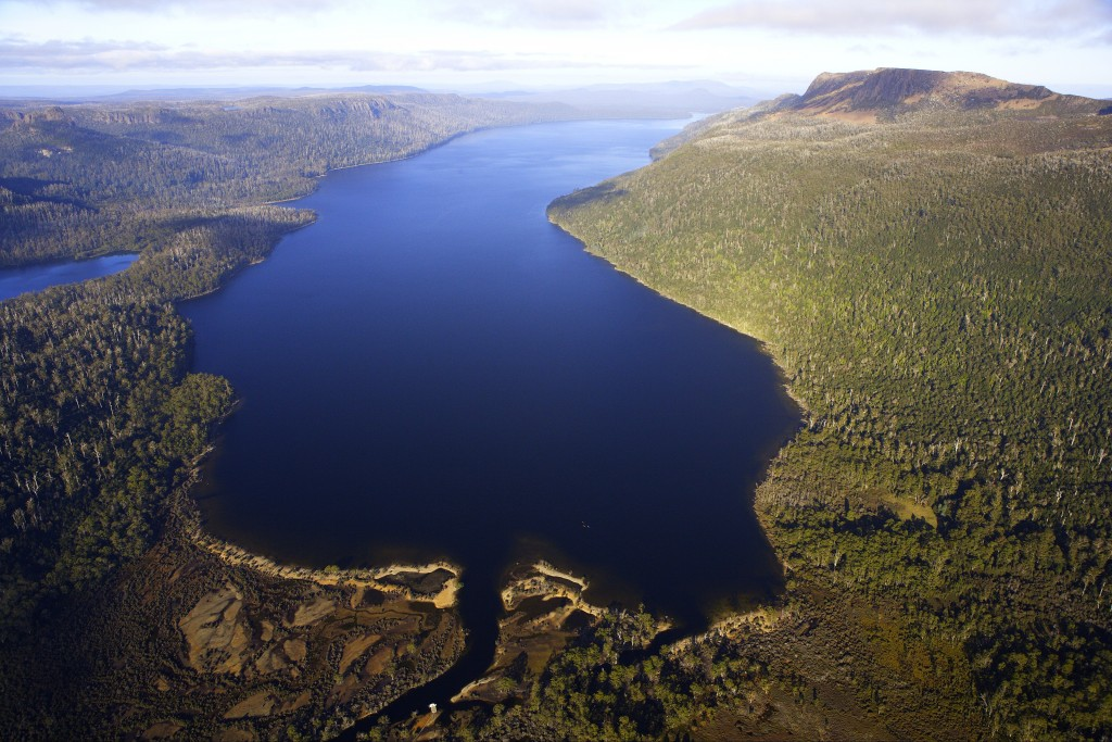 Little Horn from Twisted Lakes with the fagus in autumn colour, Cradle Mountain - Lake St Clair National Park