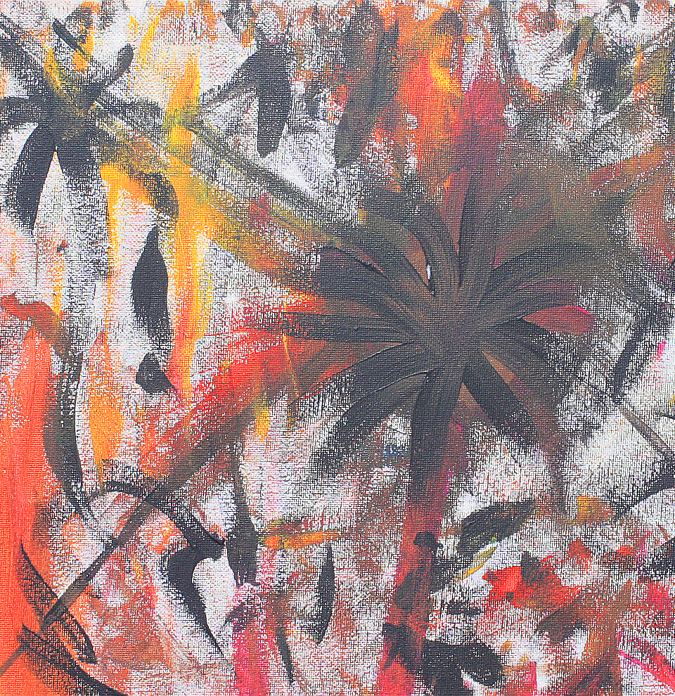 Cosmic Jungle - acrylic on canvas (detail)