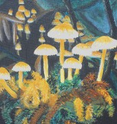 Fungus Understory - acrylic on canvas (detail)