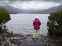 Sara Maher at Dove Lake, Cradle Mountain - Lake St Clair National Park