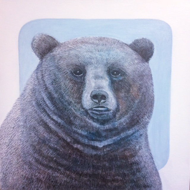 Bear - acrylic, pen and ink on canvas