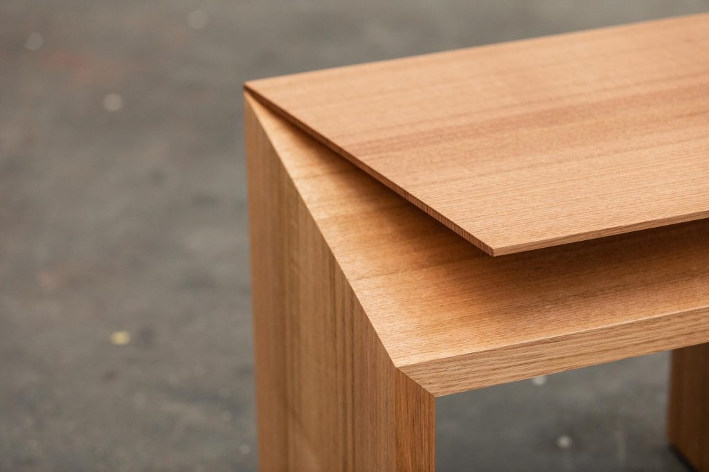 Clipped wing stool/side table