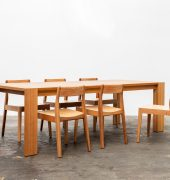Josh dining table and Rose dining chairs in Tasmanian oak