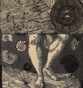 woodcut print on paper by Helen Wright