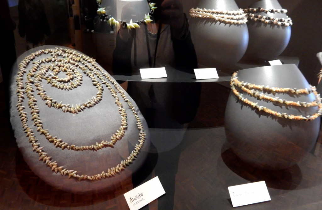 Ancestors necklace in the kanalaritja exhibition