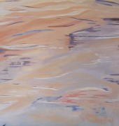 Suzanne Crowley. Meander River Bushfire Reflections. Oil on Canvas.