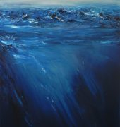 Deep Blue. Oil painting. Adrian Bradbury