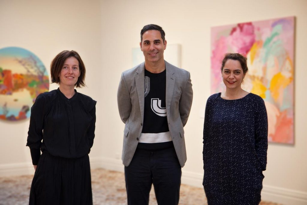 2018 Hadley's Art Prize Judges Jane Stewart, Michael Zavros and Clothilde Bullen, 2018. Photographer: Jessica King