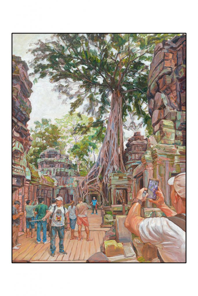 'Cambodian Selfie I' A Cambodian Selfie,acrylic on masonite, 98x74cm, Henrietta Manning,2018, photo Simon Olding