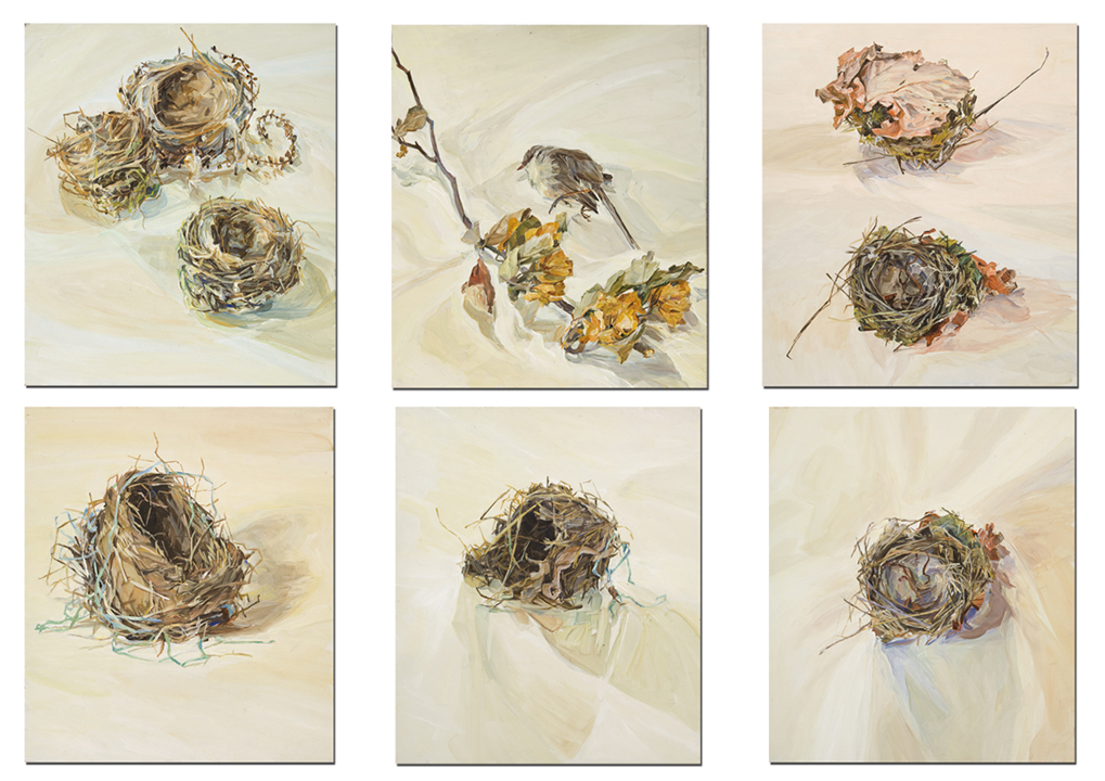 Nesting-Series-I-acrylic-on-masonite-x6-30x26cm-Henrietta-Manning-Finalist-Eutick-Memorial-Still-Life-Award-2013-Photographer-Simon-Olding