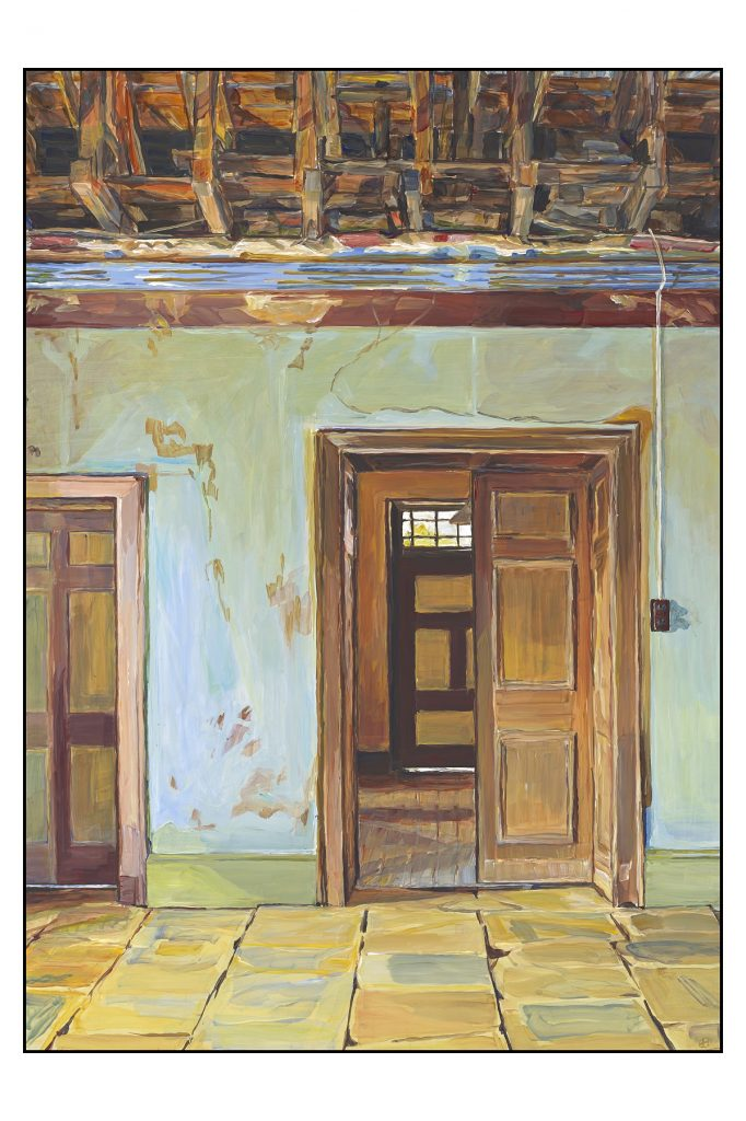 Supreme Court House V Oatlands Gaol Residency 2015-17 Henrietta Manning acrylic on masonite 70x50cm Photographer Simon Olding