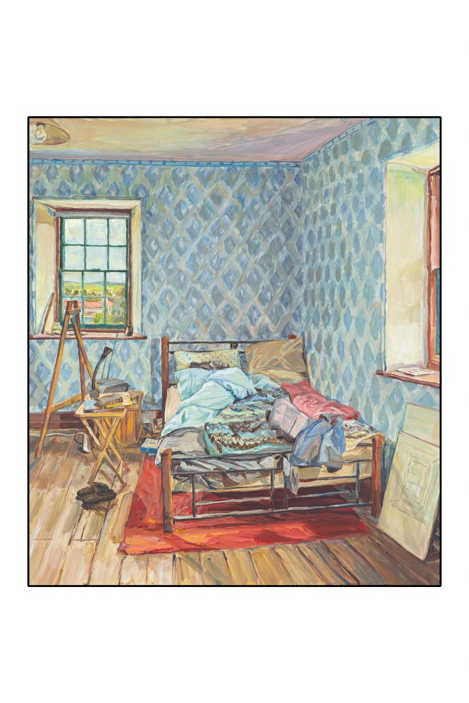 The Artist's Room,Oatlands Gaol Residency 2015-17 acrylic on masonite 70x51.5cm Photographer Simon Olding