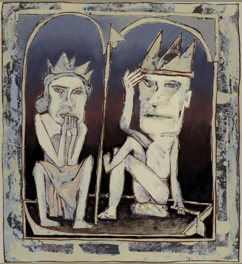 The last king and queen, 1992, oil on canvas, 97.5 x 89cm