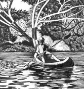 Earth Designs - Canoeing on Mersey River Deloraine
