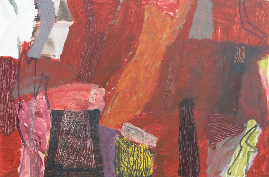 Landscape in Red, 2017, acrylic on canvas, 95 x 145cm