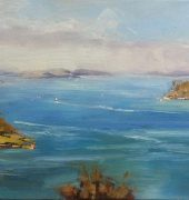 On Location - Rosny Hill Lookout, 30 x 61cm
