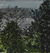 The Mountains Beyond, 2017, gouache on paper, 10 x 38cm