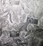 11. Jungle Labyrinth, multilayered etching, 70 x 50cm