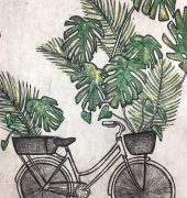 14 b. The Jungle Dreaming Triptychmultilayered etching, 55 x 95cm