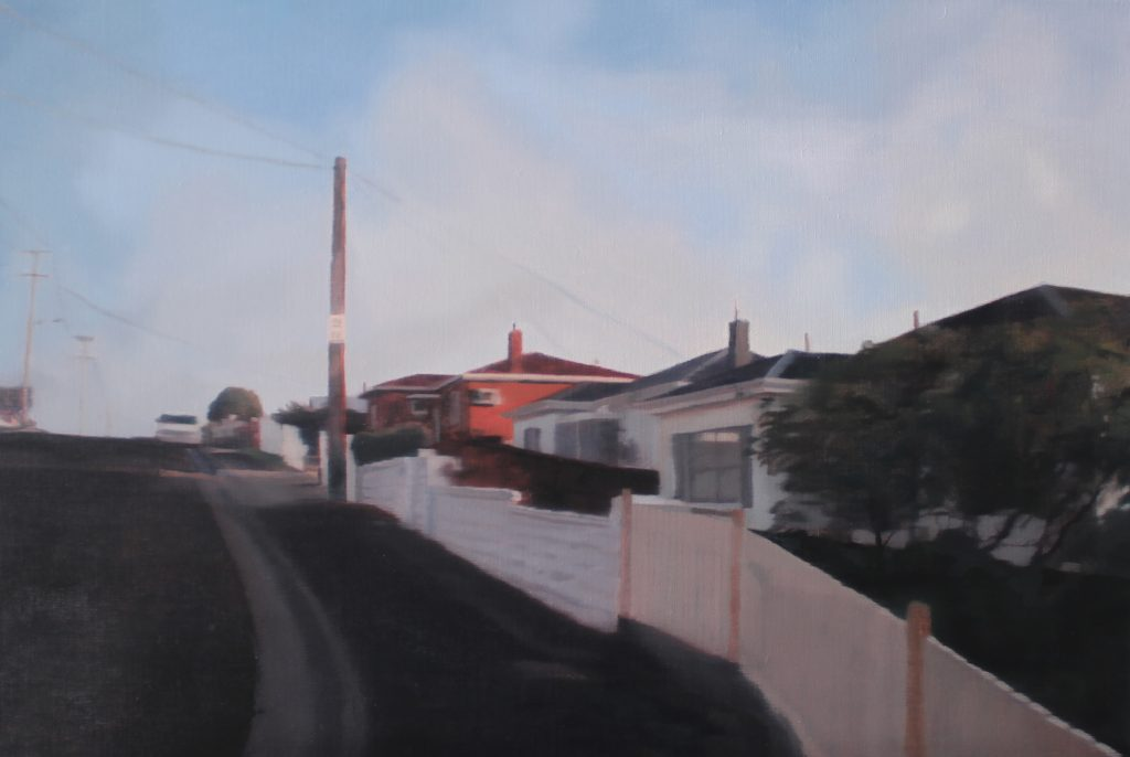 Our Daily Paths 2017, oil on linen, 41 x 61cm