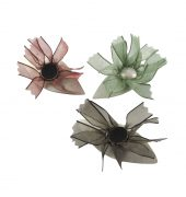 Flower Brooches, Janine Combes, 2017